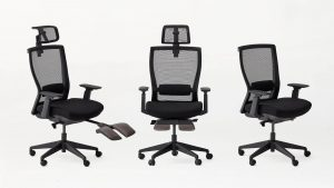 Black Ergonomic Office Chair With Mesh Material